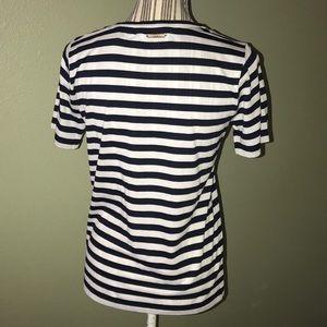 Michael Kors Tops - Michael Kors Navy/white striped tee